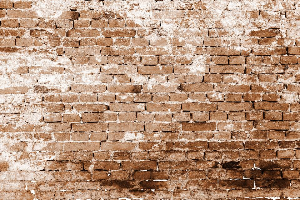 Brick wall pattern in sepia color