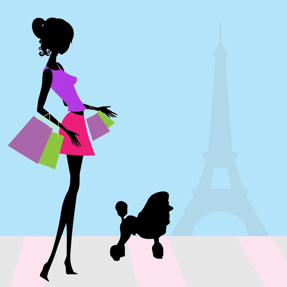 Fashion Woman Shopping Paris