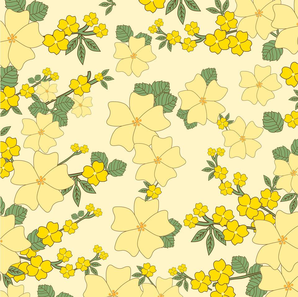 Flores fondo amarillo