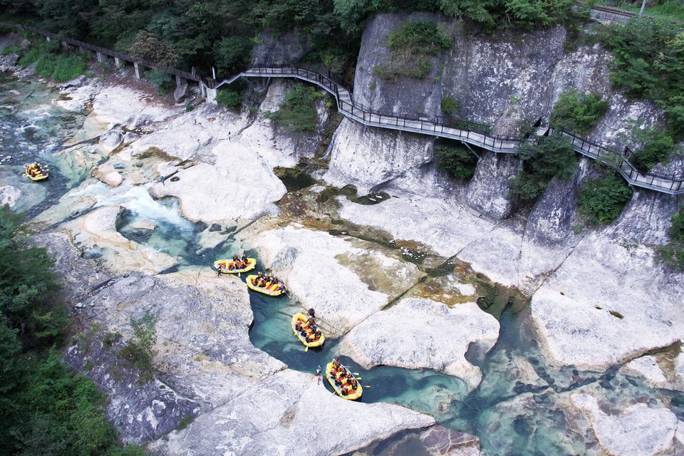 Rafting Kanufahren Canyoning in Minakami Gunma