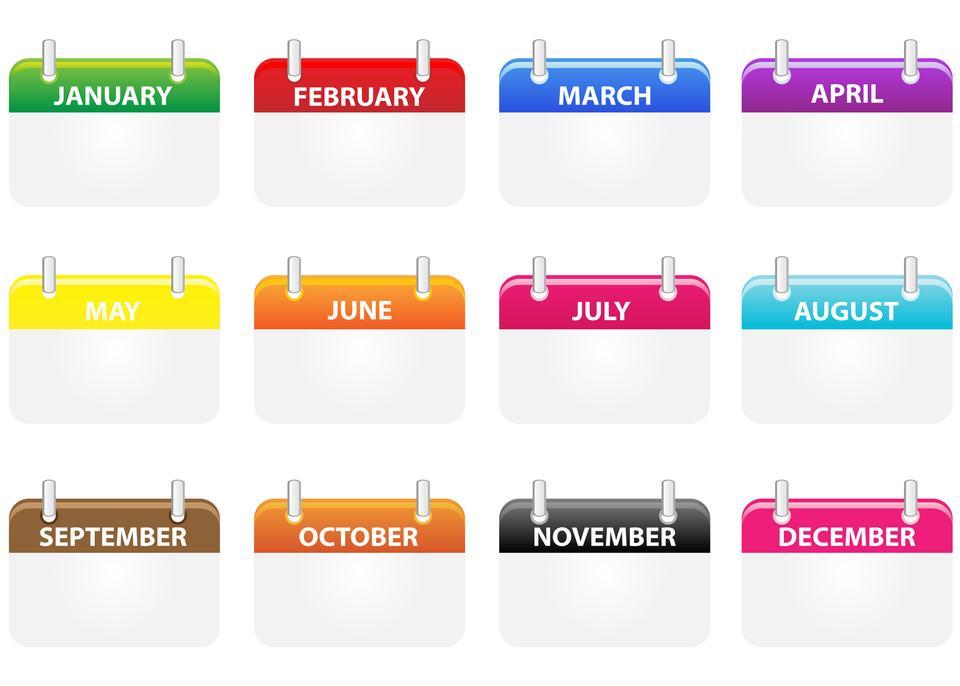 Calendar Icons Clipart