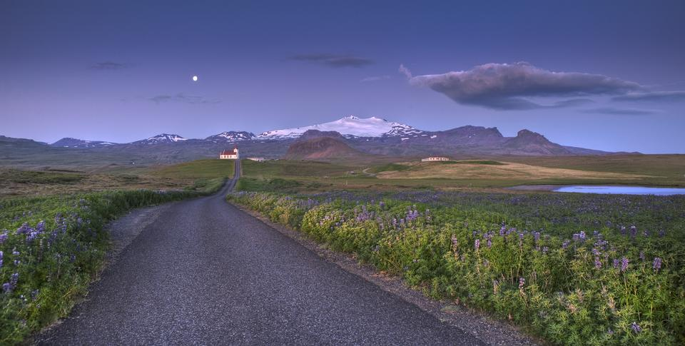 Arnarstapi e os vulcões Stapafell