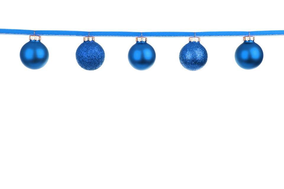 蓝色的小玩意上的丝带