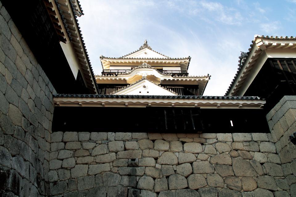Mur du temple de Shikoku Matsuyama Japon