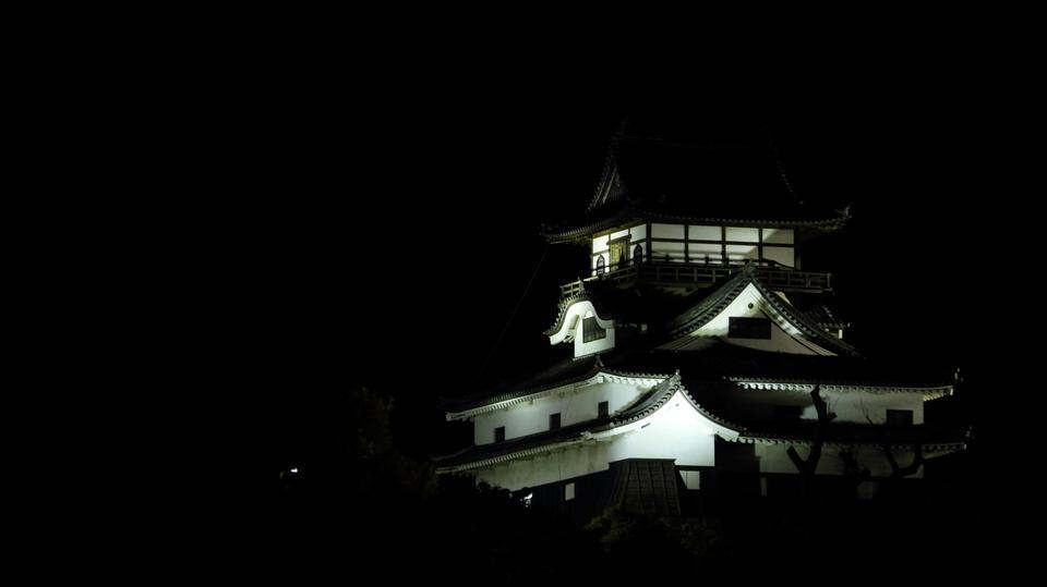 夜景犬山城