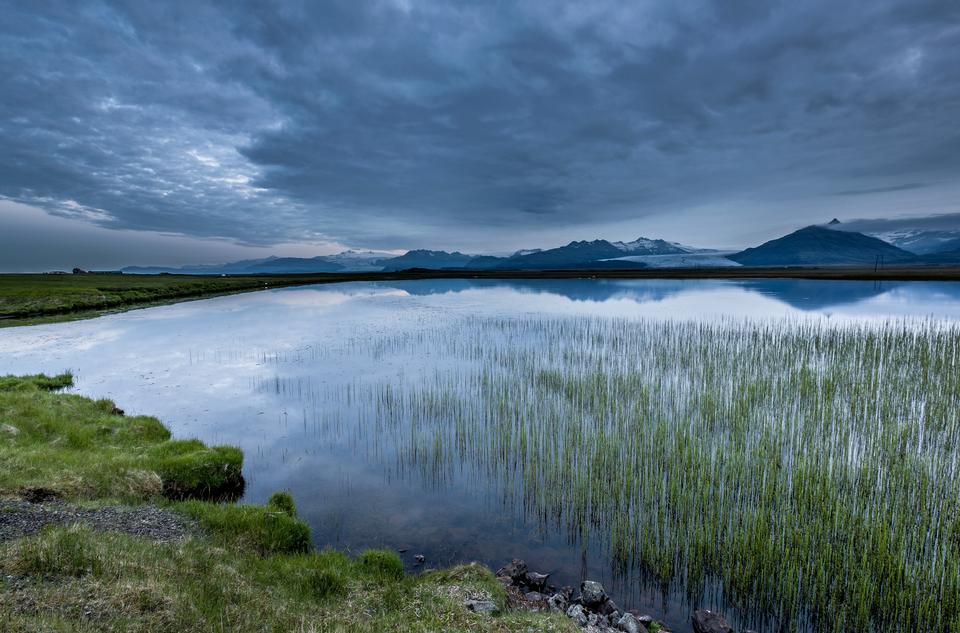 Paisaje de verano en Islandia