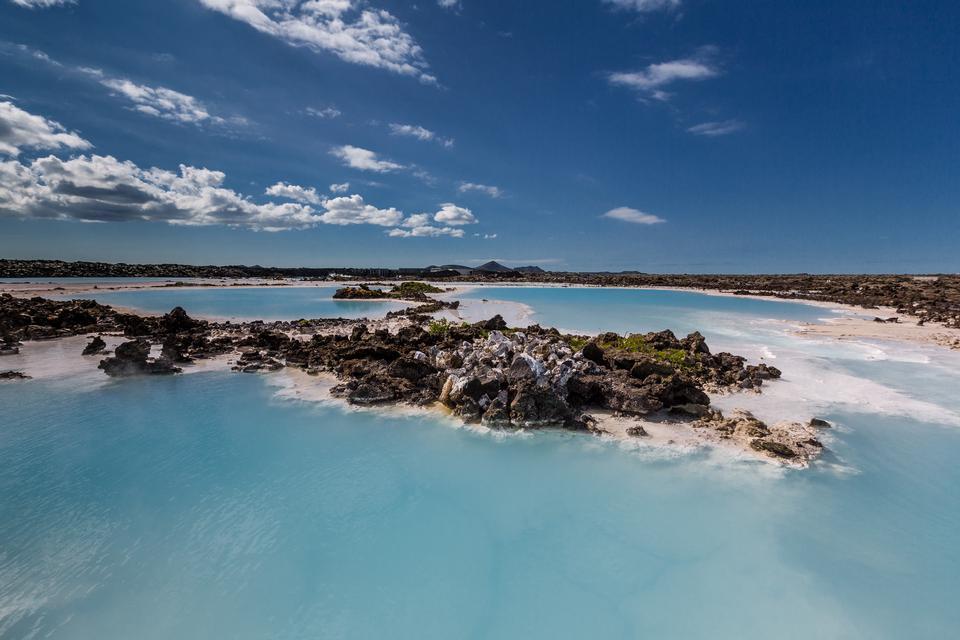 Las fuentes termales Blue Lagoon en Reykjavik, Islandia
