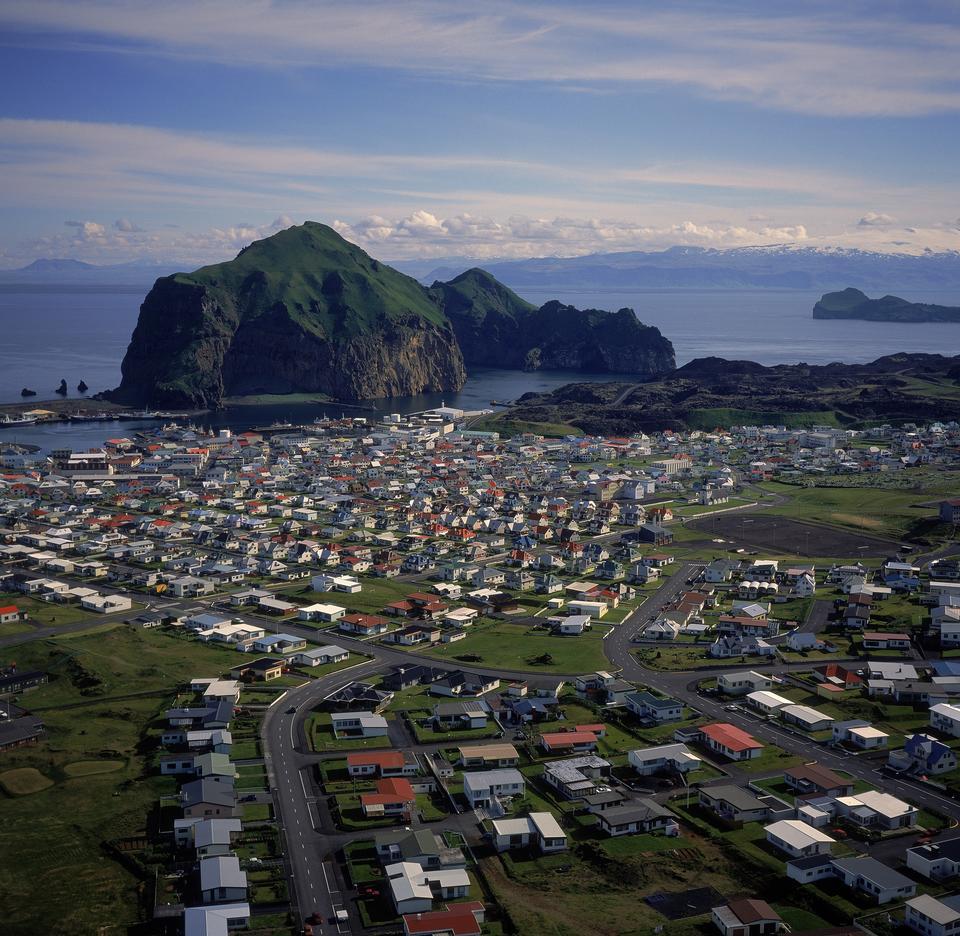 Volcanic view of Heimaey - Westman Islands