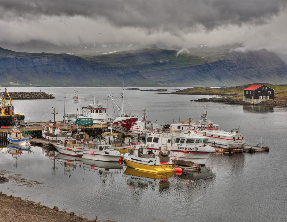 fishing boats Djupivogur Iceland