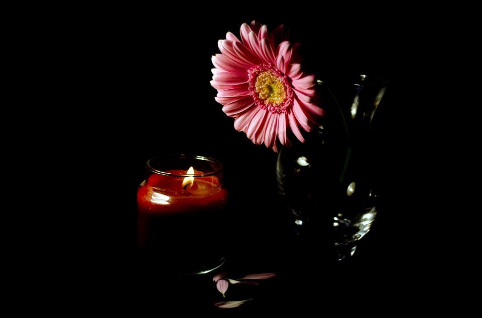 鮮花和蠟燭