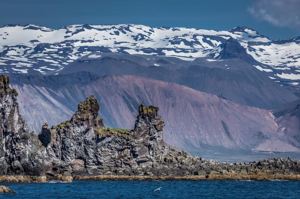 ヨークルスアゥルロゥンで氷山。アイスランド