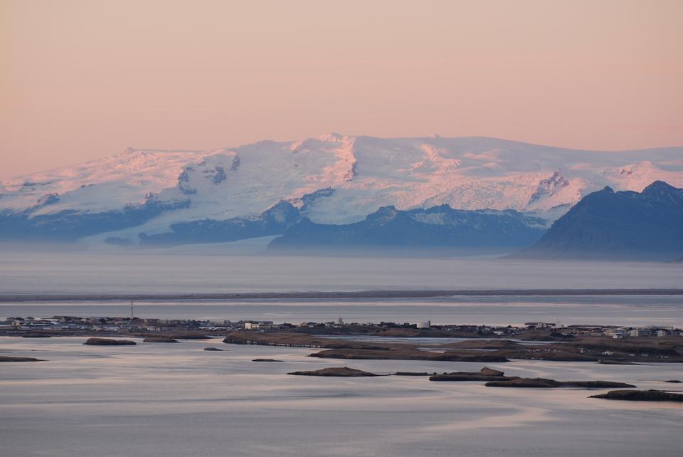 阿库雷里,冰岛附近日出