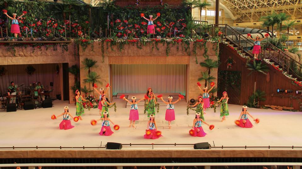 呼啦女孩跳舞溫泉度假村夏威夷