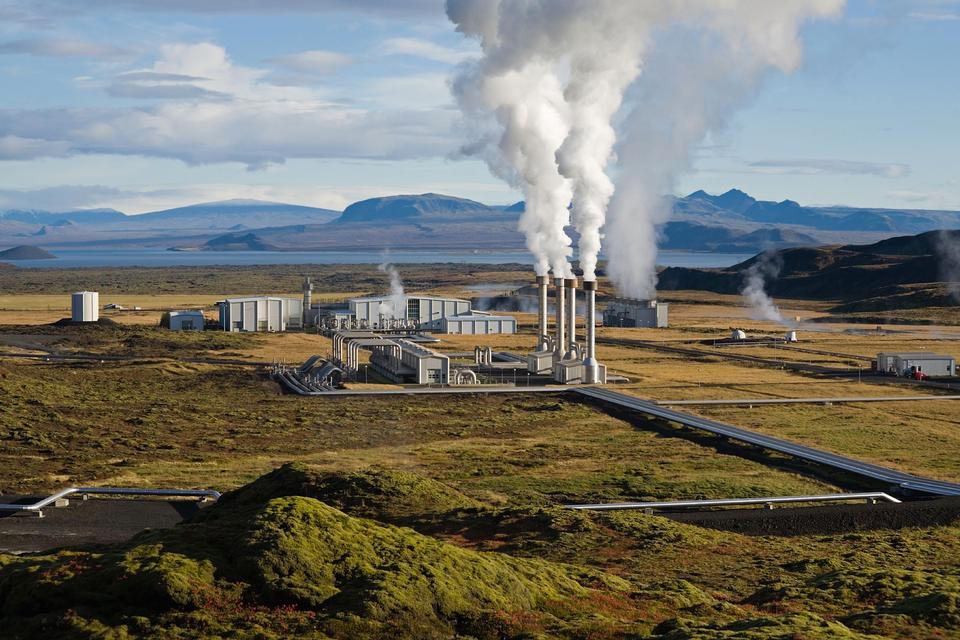 The Nesjavellir Geothermal Power Plant in Þingvellir, Iceland