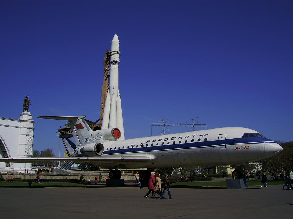 Yak-42 at the Exhibition Center