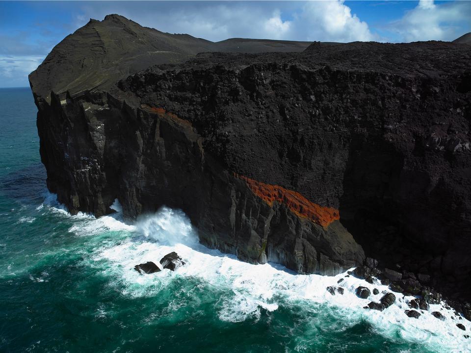 懸崖上的斗篷Dyrholaey冰島