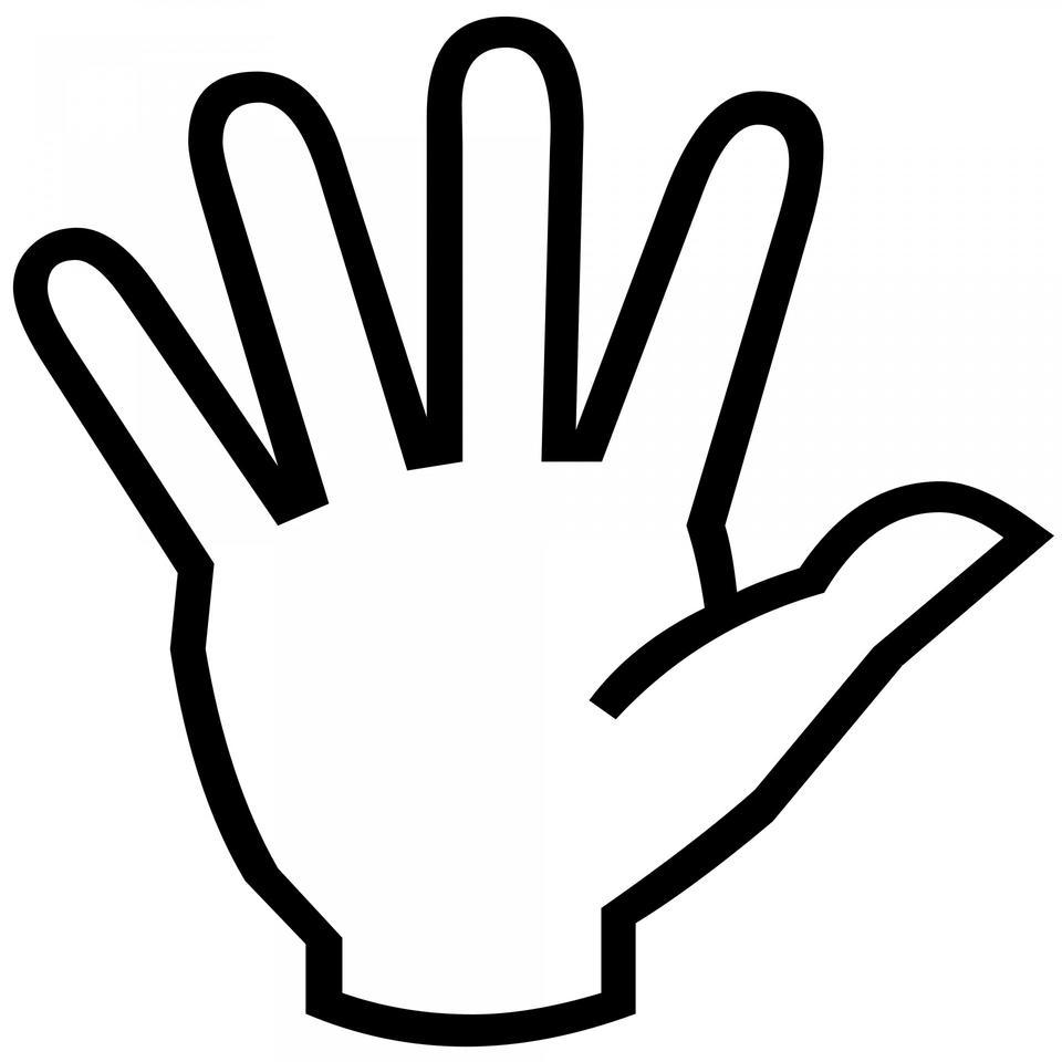 Hand Symbol Silhouette
