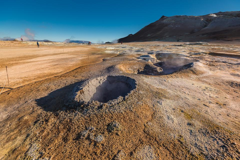 火山泥浆泡池Namaskaro Hverarond冰岛