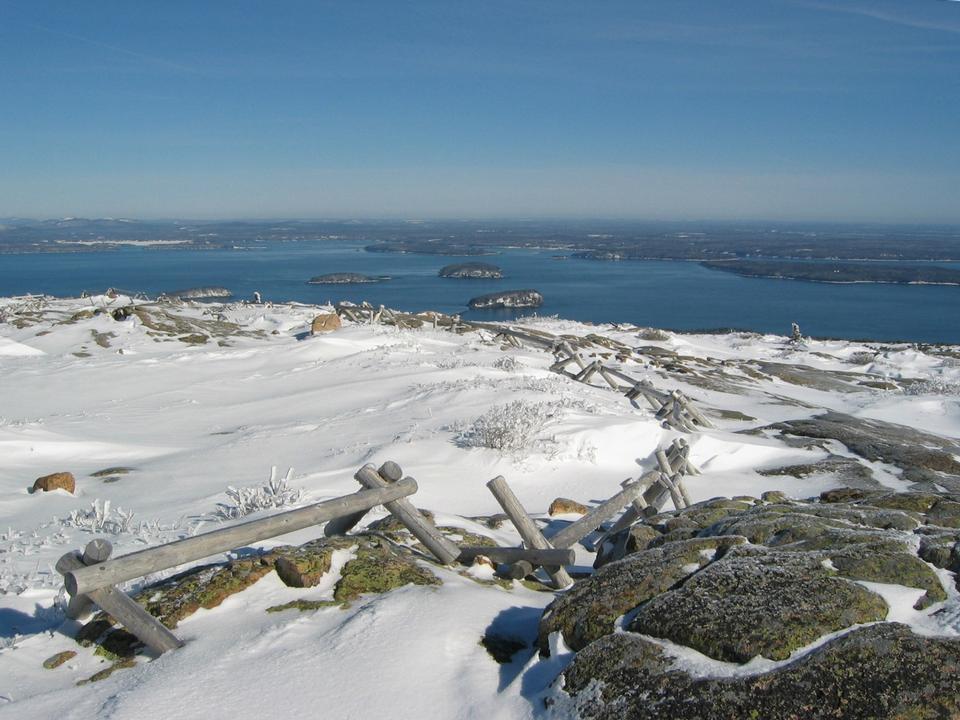 Winter Atop Cadillac Acadia National Park