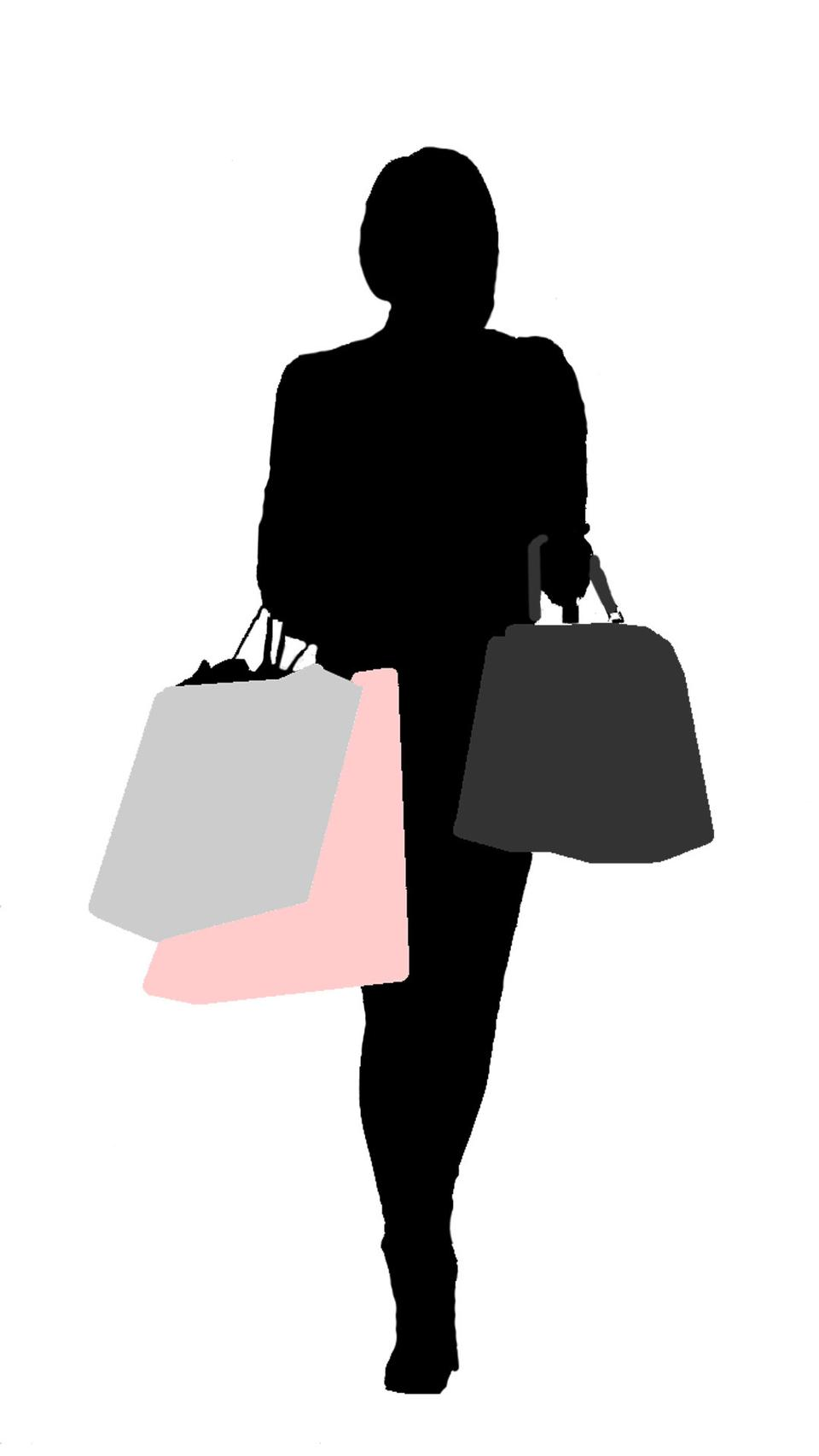 Shopping Woman With Colored Bags