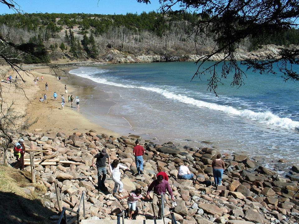 Frühling Sand Beach Acadia National Park