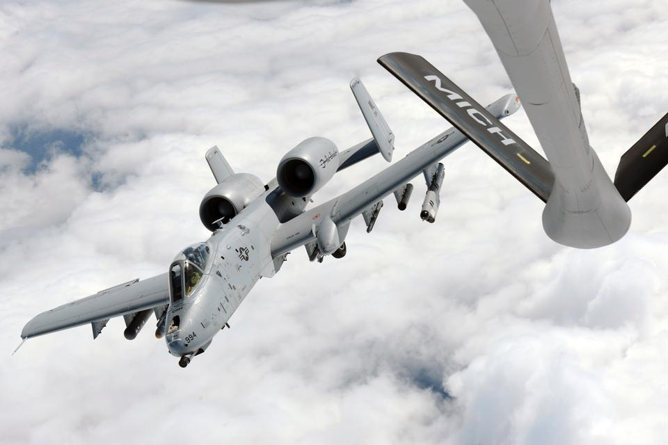 A-10C Thunderbolt II  refueling from KC135