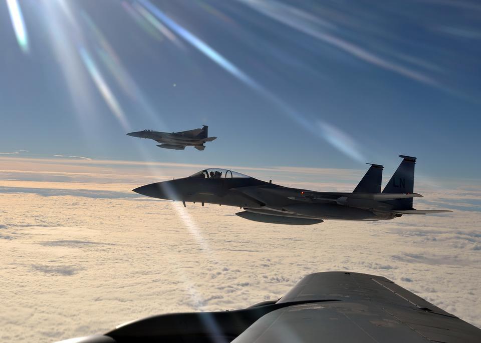 第48回戦闘航空団から2つのF-15Cイーグル