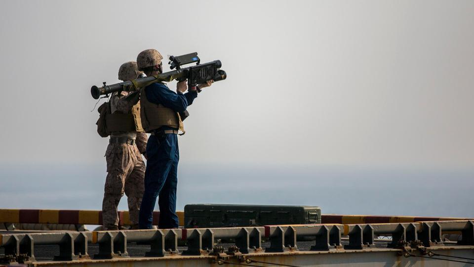 Американские морские пехотинцы, назначенные низкой высоте Air взвода обороны