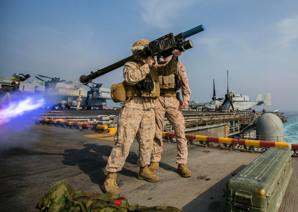U.S. Marines assigned to Low Altitude Air Defense Platoon