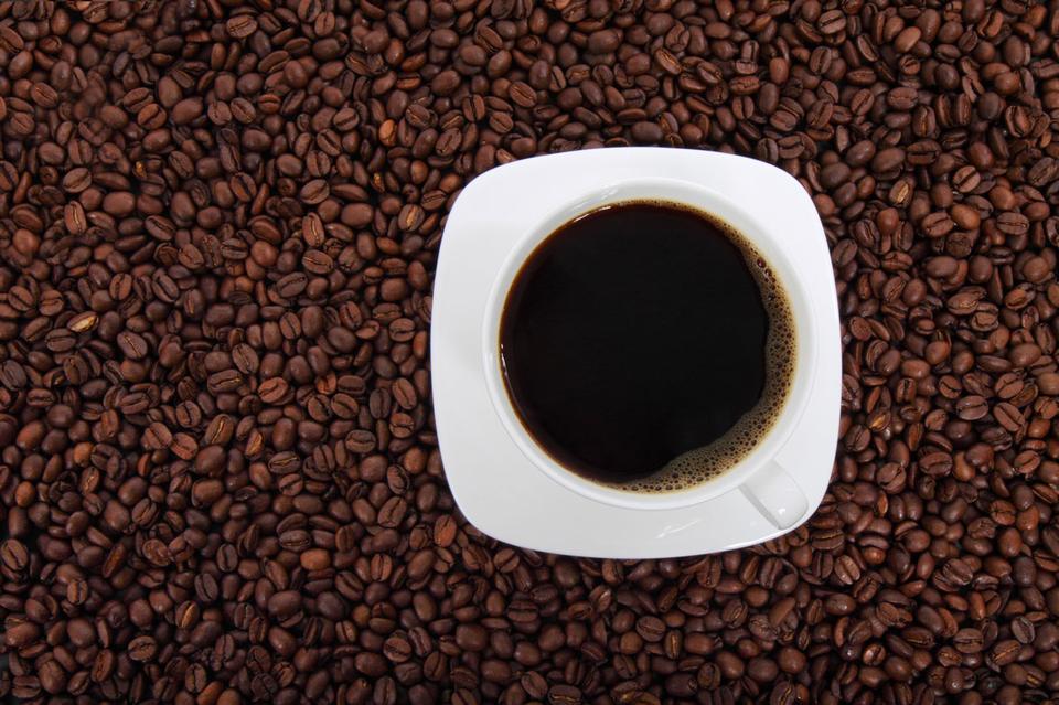上からコーヒー