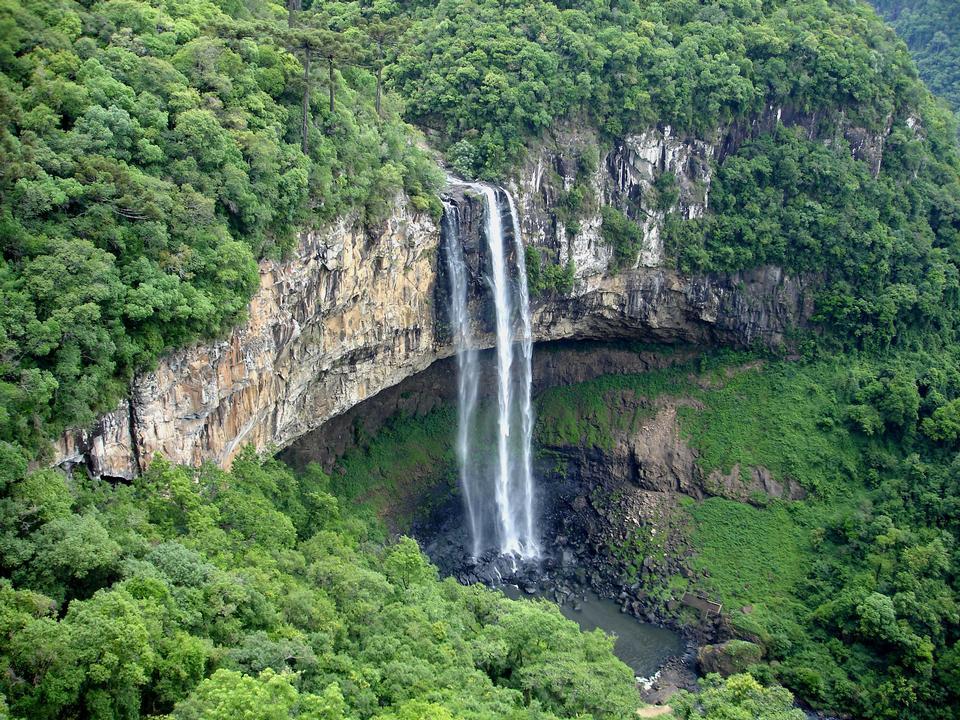 Caracol Falls in Caracol Park, Rio Grande do Sul