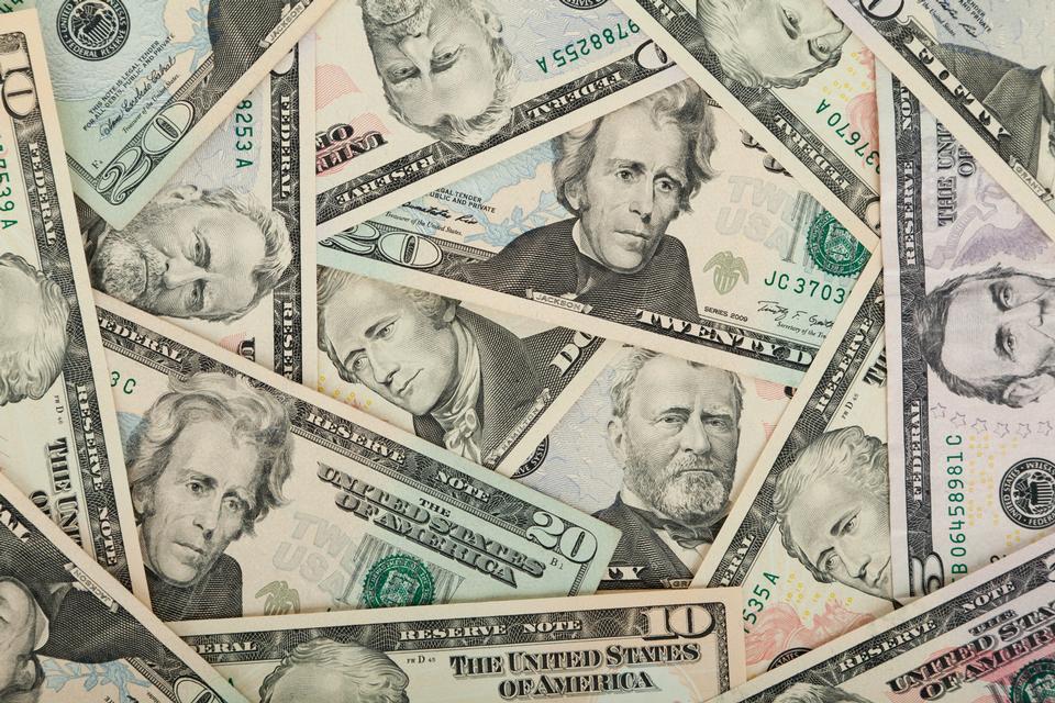 Geld Hintergrund von Dollar