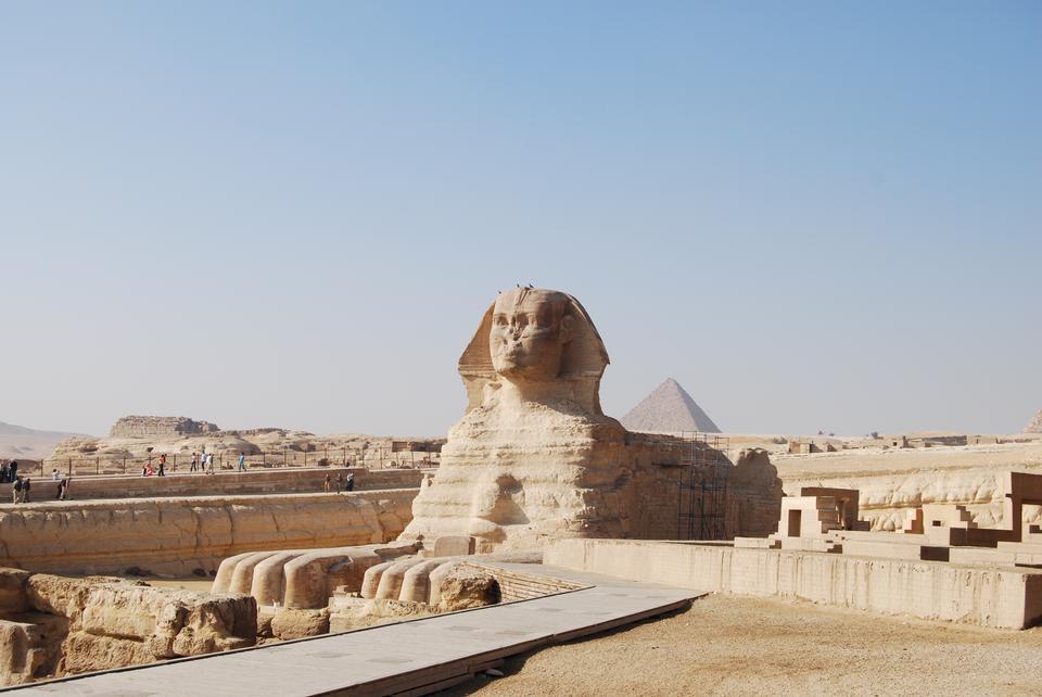 エジプトのギザの大スフィンクス