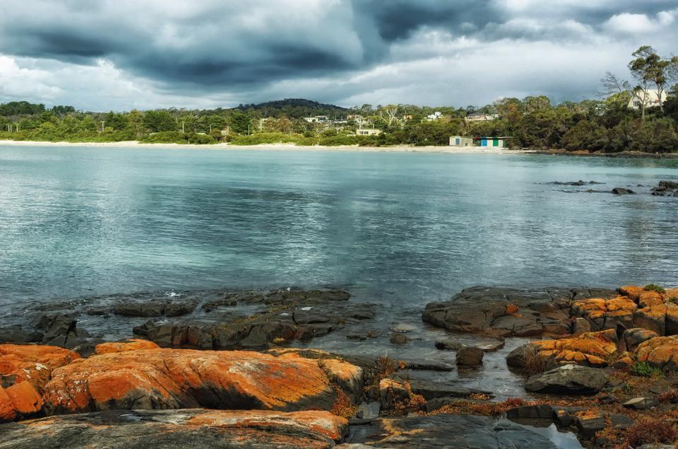 海滨别墅船港,塔斯马尼亚岛,澳大利亚