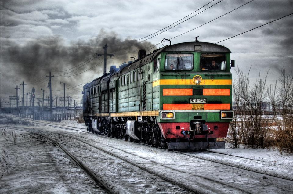 Locomotive Diesel Russia Train