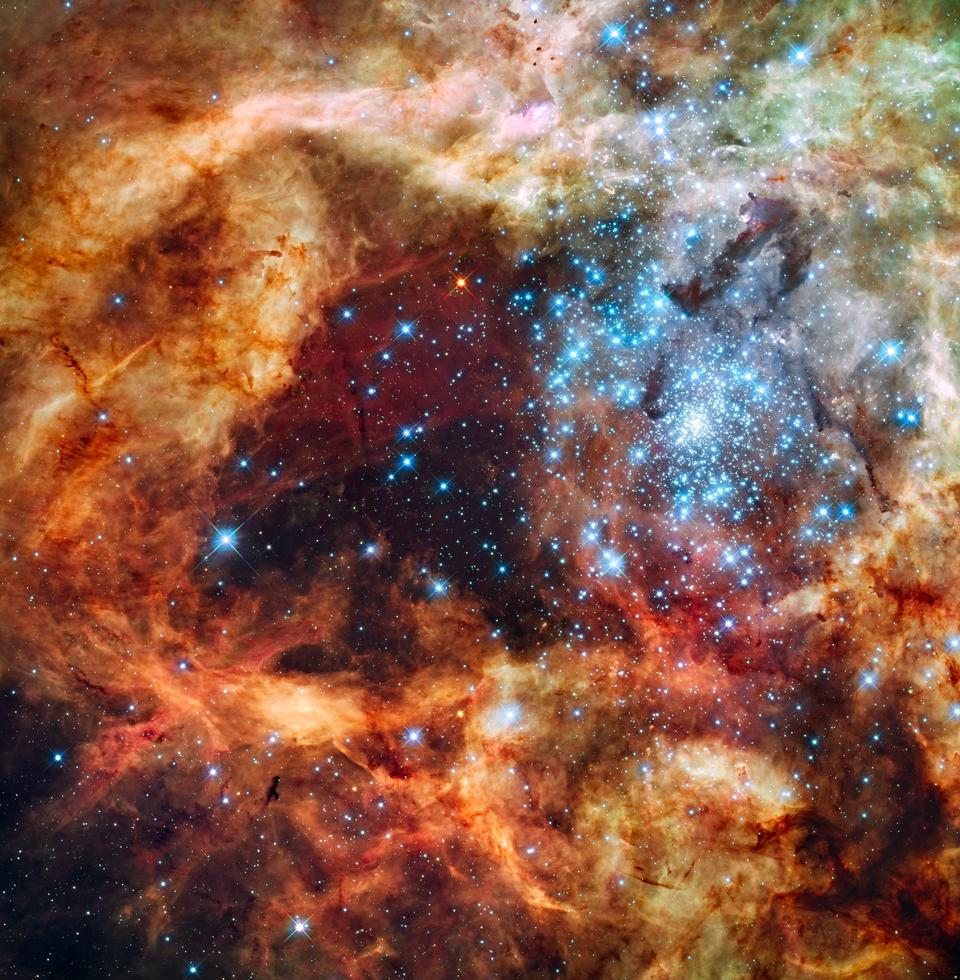 Space Panoramic Portrait of a Vast Star-Forming Region