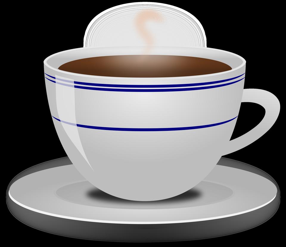 插圖一杯熱咖啡