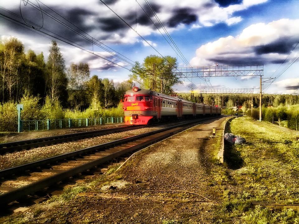 在斯維爾德洛夫斯克俄羅斯鐵路軌道