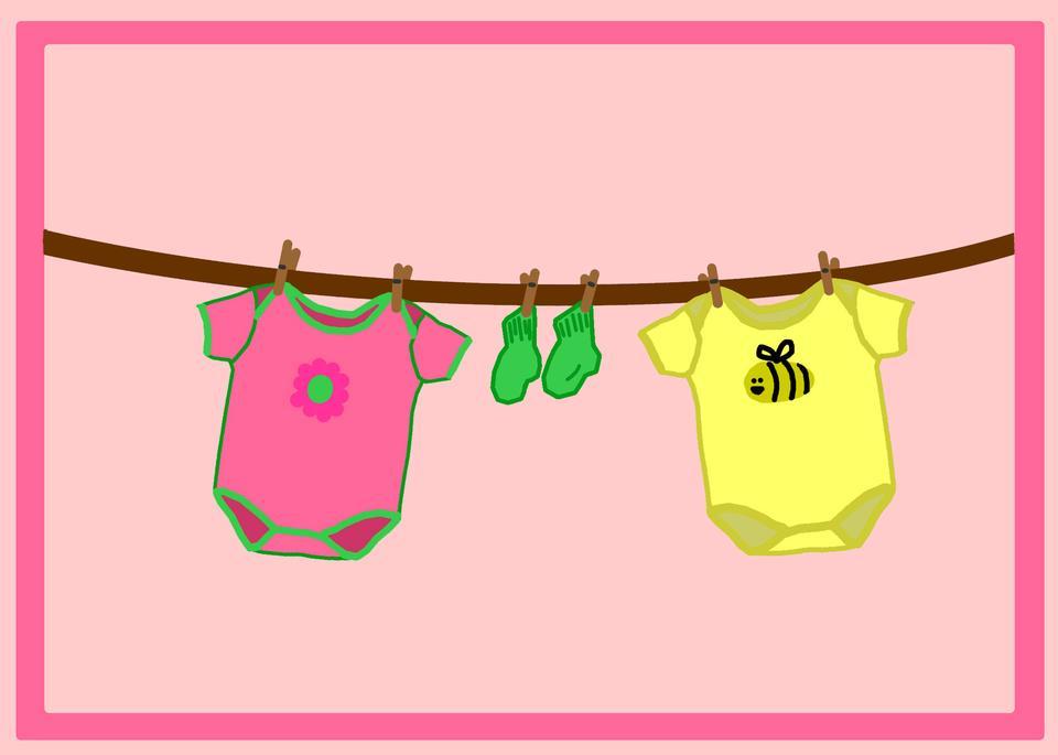 女の赤ちゃんの服ライン