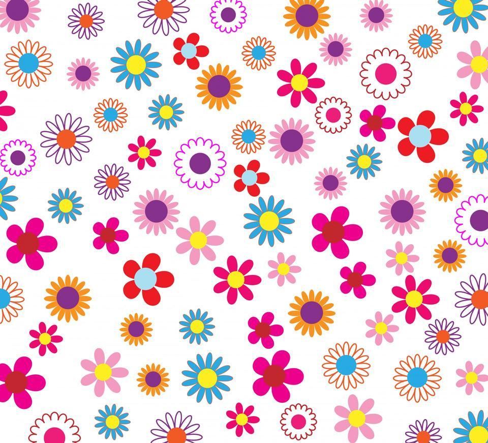 Colorido del estampado de flores de fondo