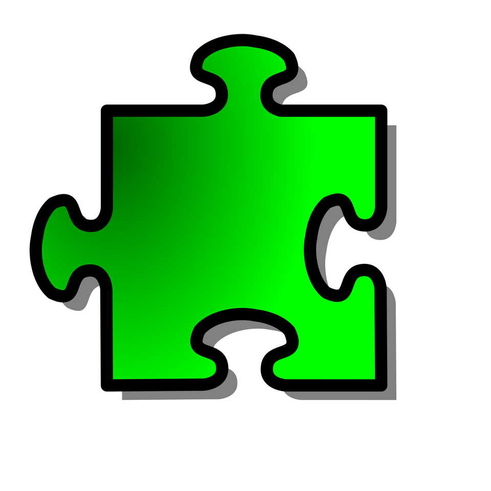 Illustration Of A Green Puzzle Piece