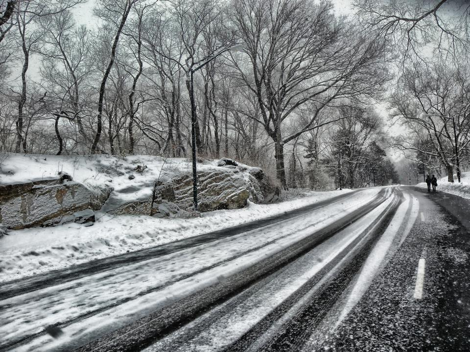 Inverno Snow Road Central Park de Nova York