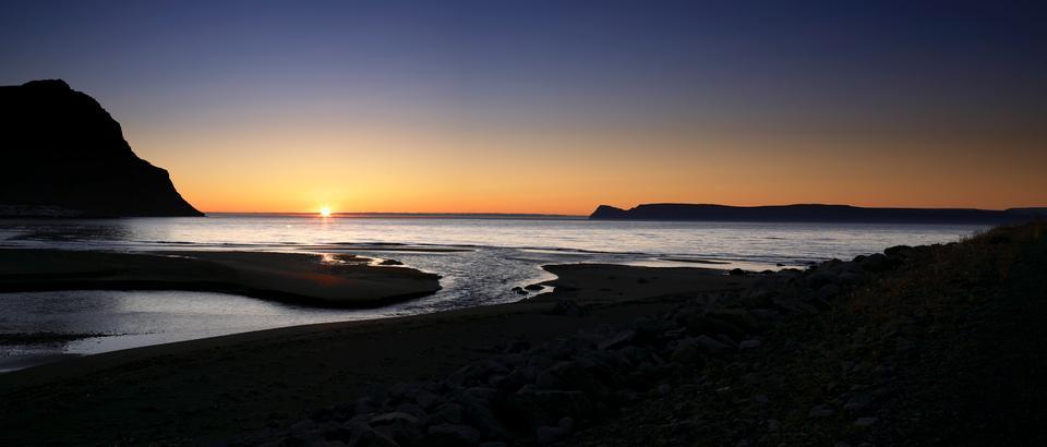 Iceland Nature Ocean Bolungarvik Sunset