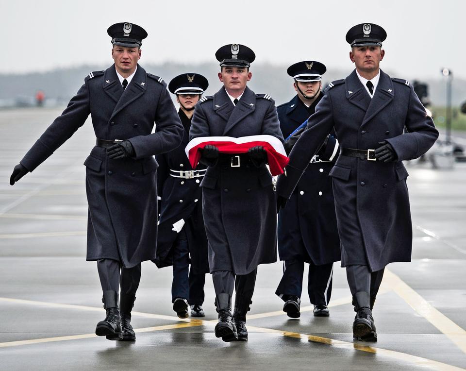 波蘭和美國的空軍儀仗隊