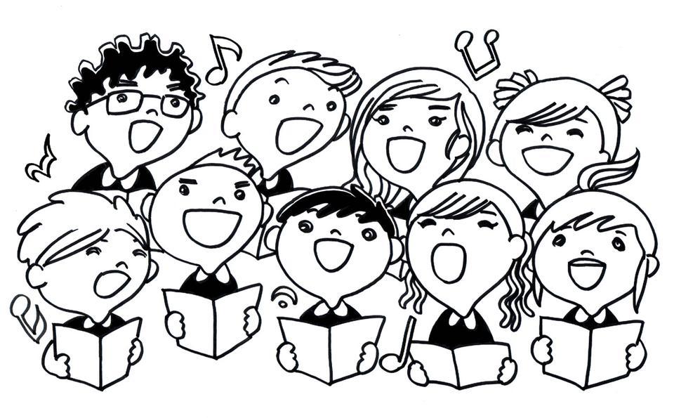 子どもたちの合唱団の歌