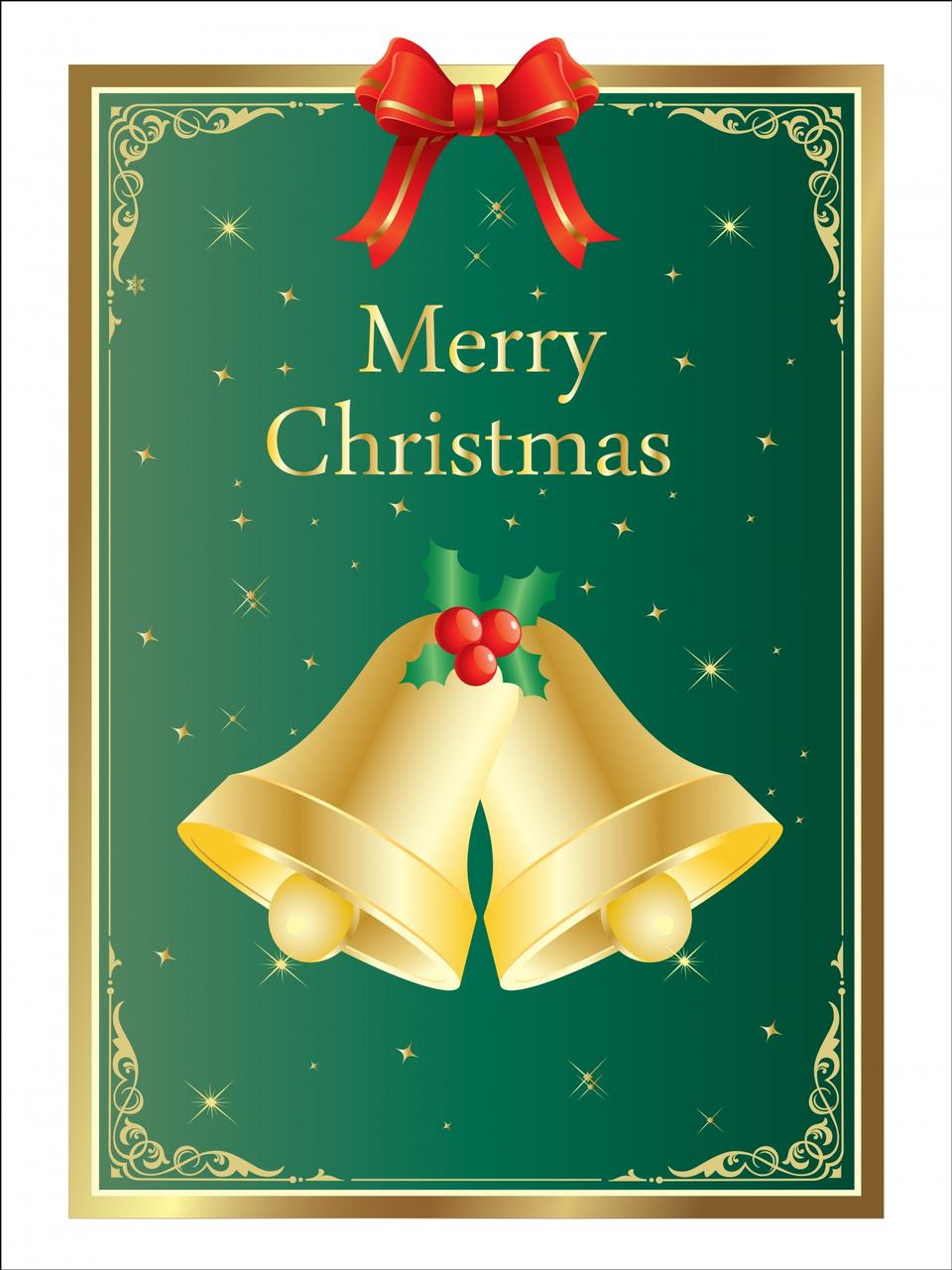 크리스마스 종소리 카드 템플릿