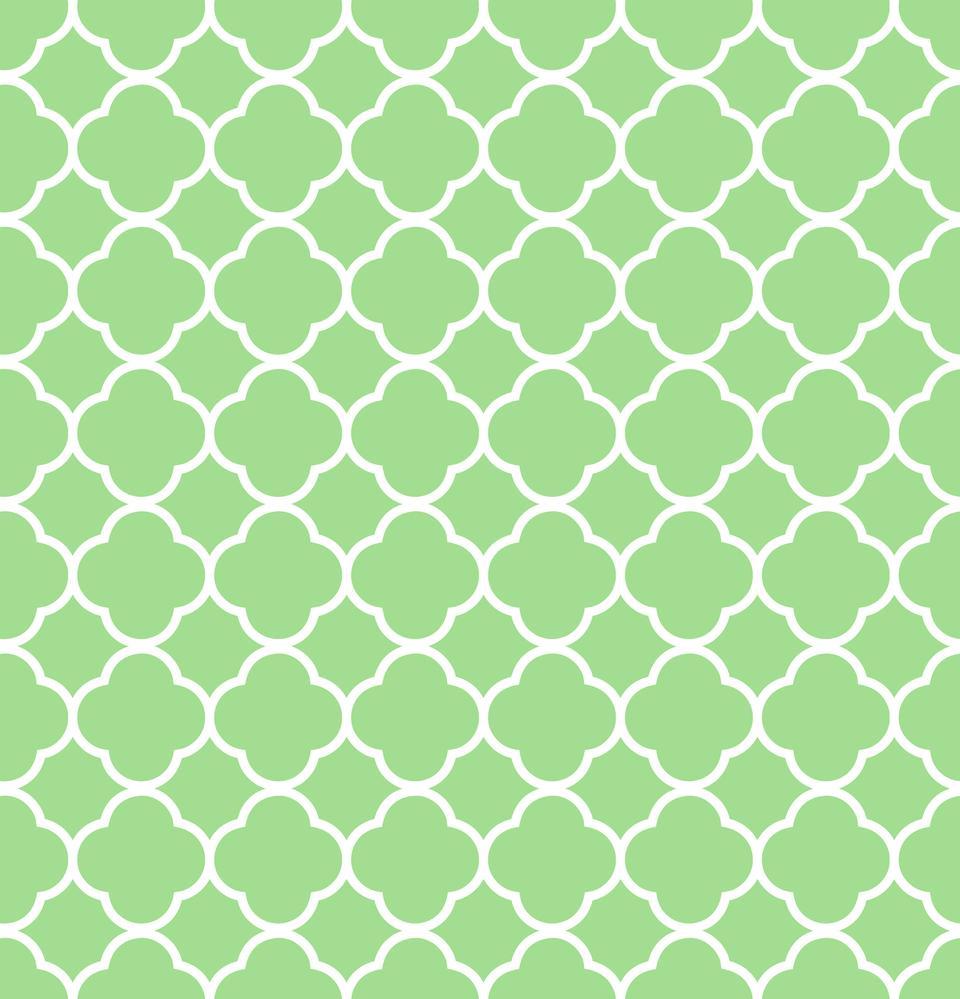 四瓣花纹背景绿色