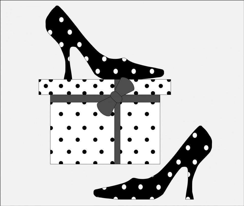 Scarpe In Polka Dots