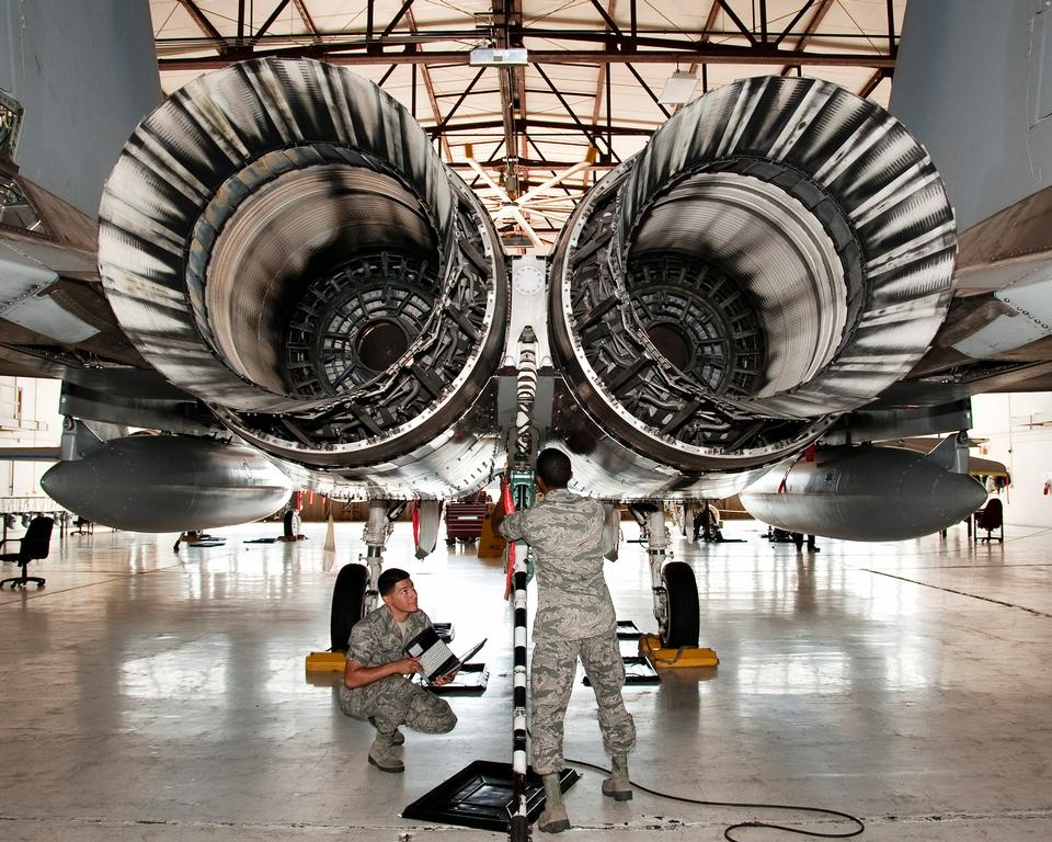 F-15 Eagle Turbo Jet-Engine
