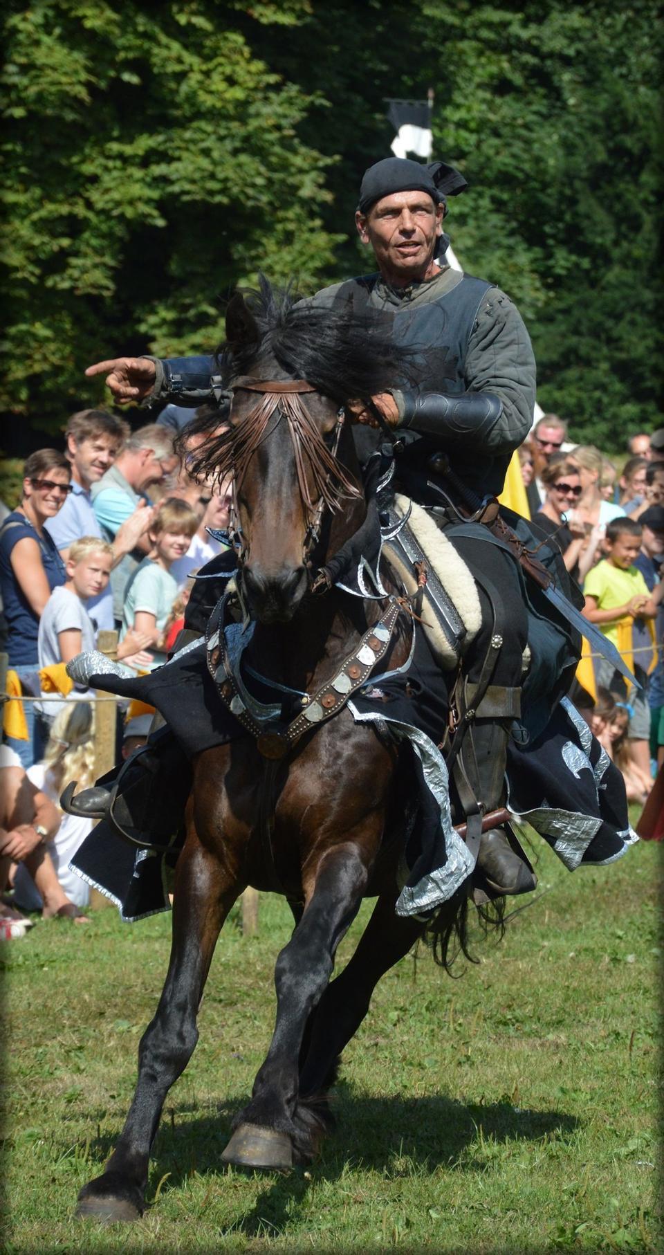 馬に乗って騎士